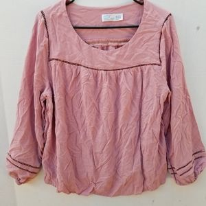 Woman's TIME And TRU Pink Blouse